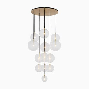 Sculptural Chandelier in Solid Brass by Schwung