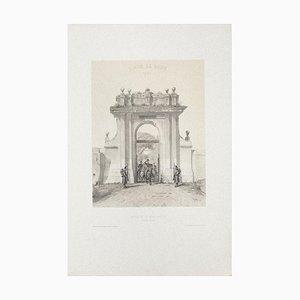 Siège de Rome Lithograph by Raffet San Donato Février, 1850