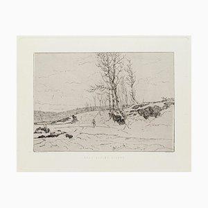 Gravure à l'Eau-Forte Paysage par Edoardo Perotti, 1880s