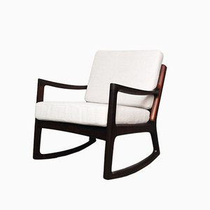 Rosewood Senator Rocking Chair by Ole Wanscher for France & Søn, 1959