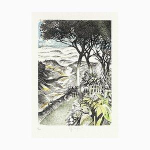 Landscape Radierung auf Papier von Mario Logli