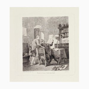 Renzo and Doctor Etching on Paper by Alessandro Balduino, 1880