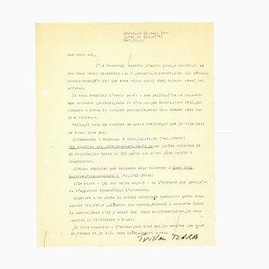 Tristan Tzara's Letter by Tristan Tzara, 1955