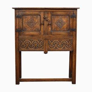Solid Oak Side Cabinet, 1920s