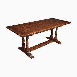 Oak Plank Top Refectory Table, 1920s