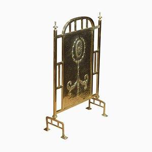 Antique Brass Fire Screen