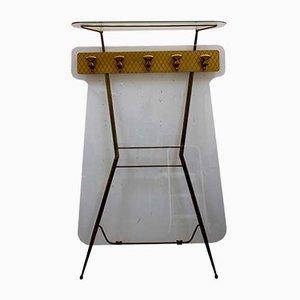 Italienische Glas und Messing Garderobe, 1950er