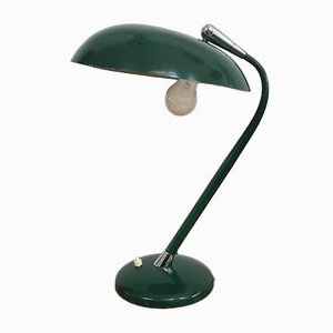 Mid-Century Italian Green Desk Lamp Attributed to Stilnovo, 1950s