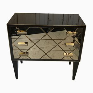 Hollywood Gold Mirrored Commode, 2000s