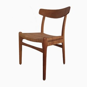 Sedia CH23 in teak e quercia di Hans J. Wegner per Carl Hansen & Son, anni '50