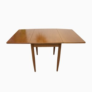 Mid-Century Teak Drop-Leaf Dining Table, 1960s