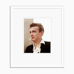 Dean Handsome Portrait Framed in White by Everett Collection