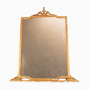 Vintage Gilded Wood Mirror, 1950s