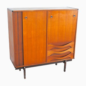 Vintage Danish Walnut Highboard, 1960s