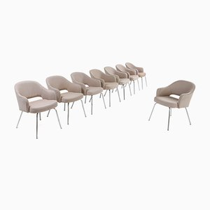 Chaises de Salon par Eero Saarinen pour Knoll Inc. / Knoll International, 1948, Set de 8