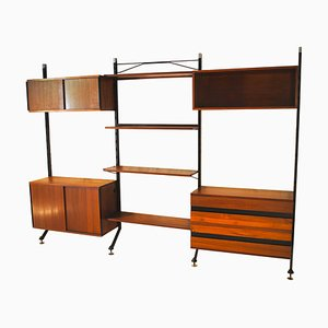 Vintage Italian Rosewood Modular Bookcase by Ico & Luisa Parisi, 1960s