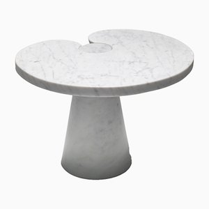 Carrara Marble Eros Series Side Table by Angelo Mangiarotti for Skipper, 1971