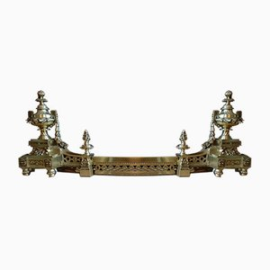 Cornice da camino antica in bronzo imperiale