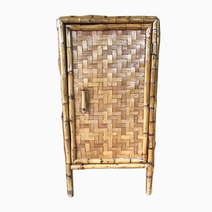 Small Vintage Bamboo Cabinet