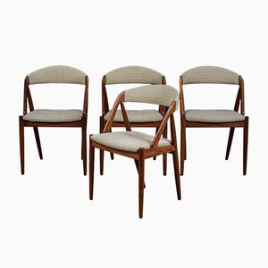 Mid-Century Teak Model 31 Dining Chairs by Kai Kristiansen, Set of 4