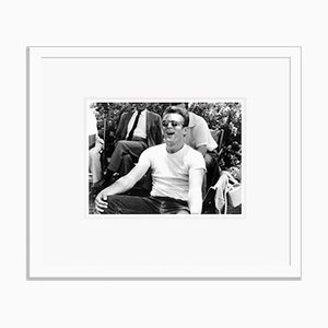 James Dean Having Fun on Set Archival Pigment Print Framed in White by Everett Collection