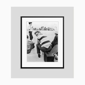 James Dean at a Car Rally Archival Pigment Print Framed in Black by Frank Worth