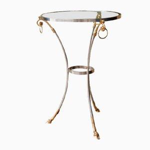 Dreibeiniger Tisch aus vergoldeter Bronze & Silber von Maison Charles, 1970er