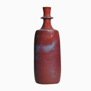 Mid-Century Vase in Stoneware by Stig Lindberg for Gustavsberg