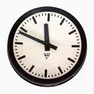 Bakelite Railway Clock from Pragotron, 1950s