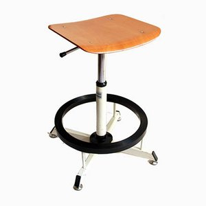 Vintage Architect Stool by Tecno Graph, Italy, 1970s
