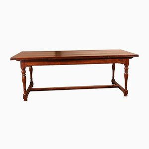 19th Century Dutch Extendable Dining Table with Turned Legs