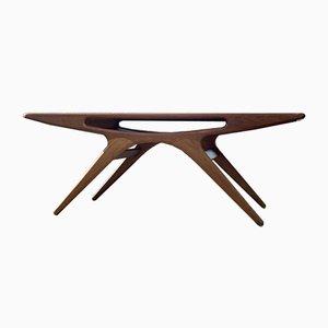 Mid-Century Danish Teak the Smile Coffee Lounge Table by Johannes Andersen