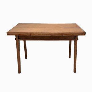 Eichenholz Esstisch mit Verlängerungen von René Gabriel, 1940er