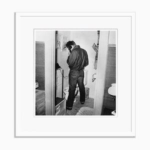 James Dean Multi-tasking Archival Pigment Print Framed in White by Frank Worth