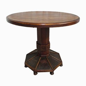 Art Deco Oak Table, 1930s