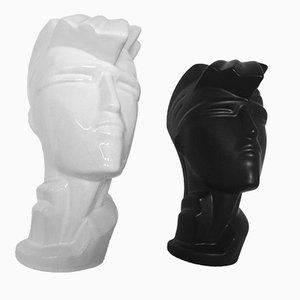Keramik Modell Irmgard Kopf Skulptur von Lindsey B, 1984