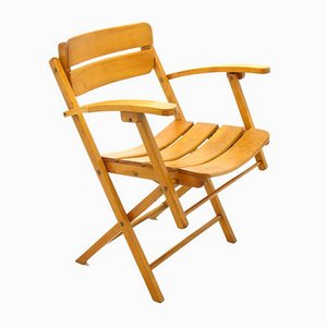 Wooden Folding Chair, 1970s