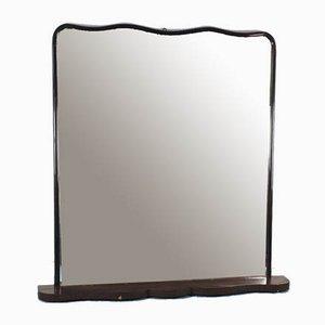 Specchio vintage moderno in legno marrone scuro, anni '50