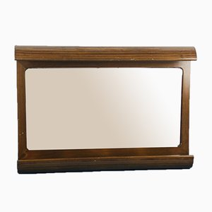 Brauner Vintage Badezimmerspiegel aus Holz von Möbelhaus, 1970er