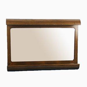 Specchio da bagno vintage in legno marrone di Möbelhaus, anni '70