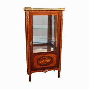 Antique Napoleon III Inlaid Crystal Showcase