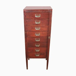 Beech Apothecary Cabinet with Drawers, 1930s
