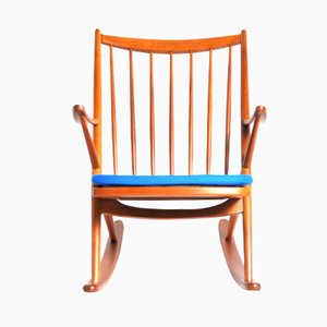 Rocking Chair 182 by Frank Reenskaug for Bramin Møbler