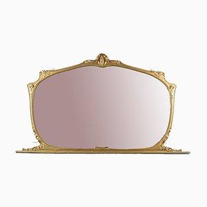 Specchio vintage in legno dorato, anni '50
