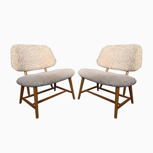 Easy Chairs by Alf Svensson, 1950s, Set of 2