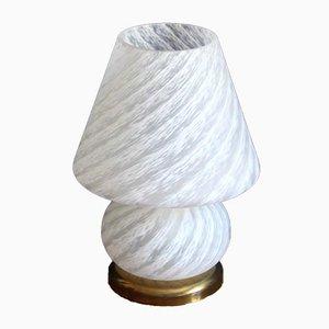 Vintage Swirl Murano Mushroom Lamp from Murano Vetri, Italy, 1970s