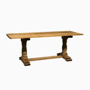 Antique French Bleached Oak Farmhouse Dining Table