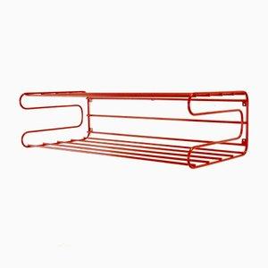 Rotes Vintage Wandregal im Pilastro oder Tomado Stil von Ikea, 1980er