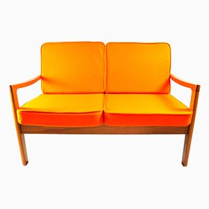 Danish Senator Two-Seater Sofa by Ole Wanscher for Poul Jeppesen