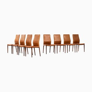 Rosewood Dining Chairs by Helge Vestergaard-Jensen for P. Jensen & Co., 1960s, Set of 8